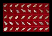 Set of Forty Neolithic Flint Arrowheads