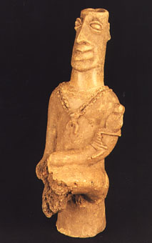 Komaland Terracotta Sculpture of a Seated Man