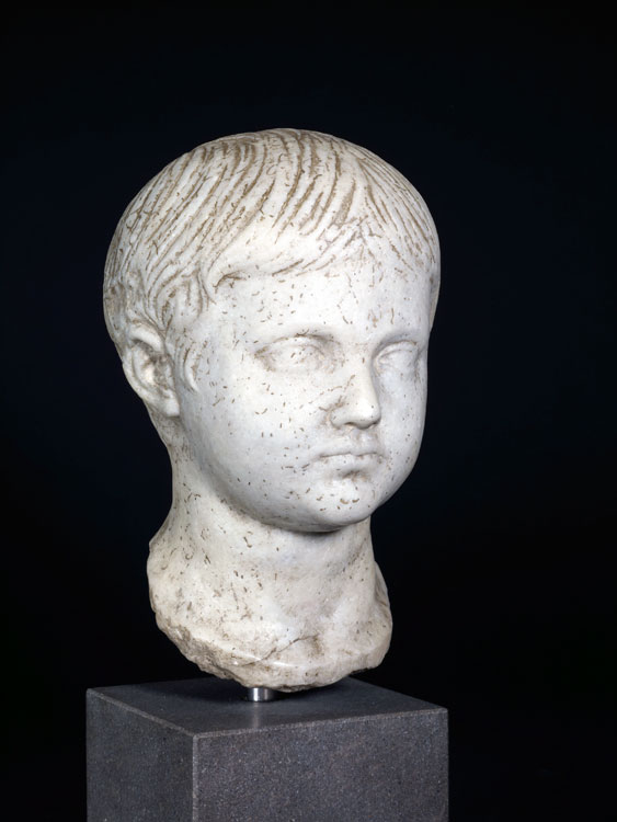 A Roman Marble Head of a Geta as a Boy