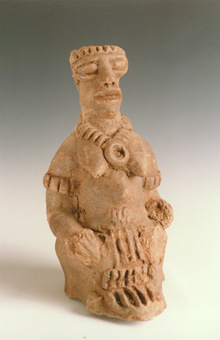 Komaland Sculpture of a Seated Woman