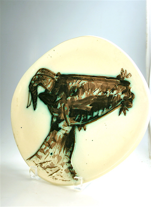 Picasso, Relief Decorated Ceramic Plate of a Goat's Head