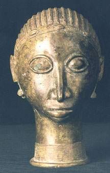Mossi Brass Sculpture of a Head