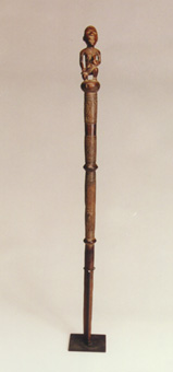 Kongo Wooden Mvwala Chief's Staff