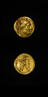 Bactrian Gold Stater of Diodotus I as Satrap under Antiochos II