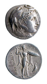 Silver Tetradrachm of Ptolemy I, as Satrap