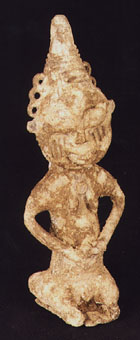 Yoruba Lead Onile Sculpture of a Seated Woman