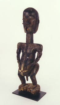 Ivorian Wooden Sculpture of a Man
