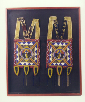 Pair of Yoruba Beaded Panels