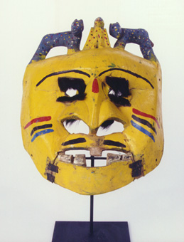 Ibibio Wooden Polychrome Mask