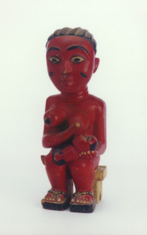 Anyi Colonial Sculpture of a Mother and Child