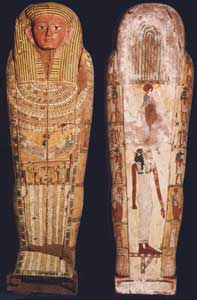 30th Dynasty Painted Wooden Mummy Case