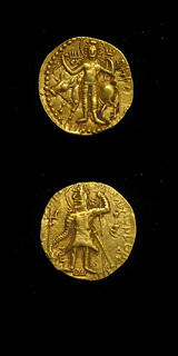 Kushan Gold Dinar of Emperor Kanishka II