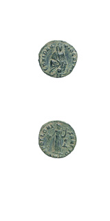 Bronze Quarter Follis Minted During the Great Persecution