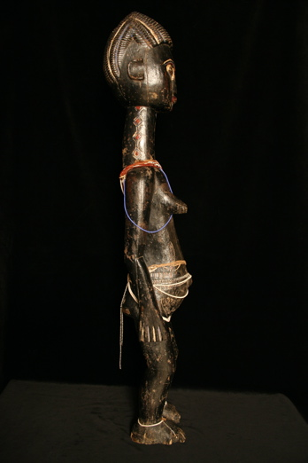 Lagooons Area (Attye or Anyi) Sculpture of a Standing Woman