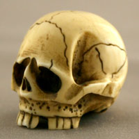 Ivory Netsuke Depicting a Skull