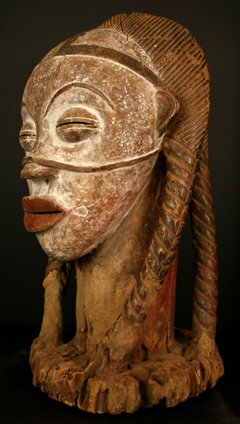 Punu Wooden Bust of a Woman