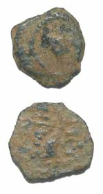 Jewish Bronze Prutah of King Herod the Great