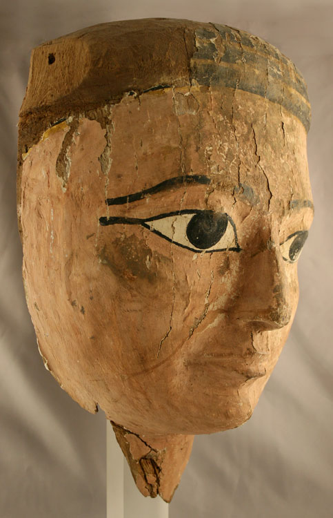 Ptolemaic Painted Wooden Funerary Mask