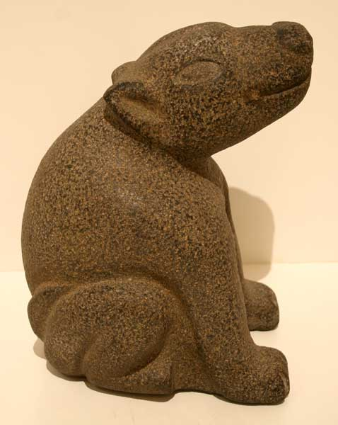 Aztec Stone Sculpture of a Dog
