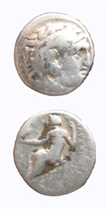 Macedonian Silver Drachm of Alexander the Great