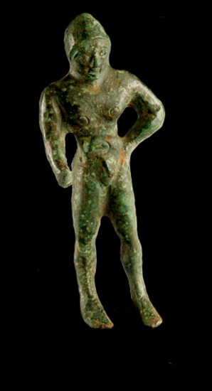 Etruscan Sculpture of a Nude Kouros