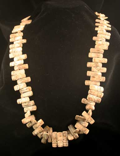 Valdivian Shell Fertility Figurine Bead Necklace