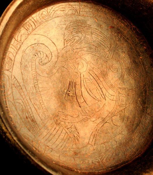 Mayan Terraotta Bowl with Engraved Decorations