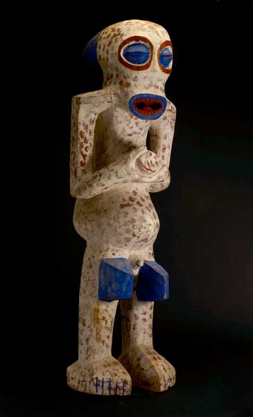 Bangwa Wooden Polychrome Sculpture