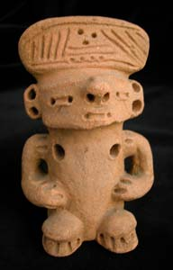 Mayan Seated Votive Sculpture