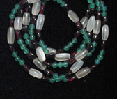 Moonstone, Garnet, Chalcedony Bead Necklace