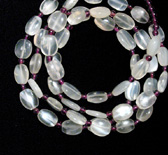 Moonstone And Garnet Bead Necklace