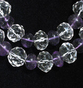 Rock Crystal And Amethyst Bead Necklace