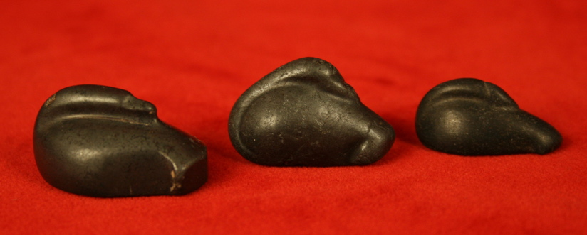 Set of Three Middle/New Kingdom Stone Duck Weights