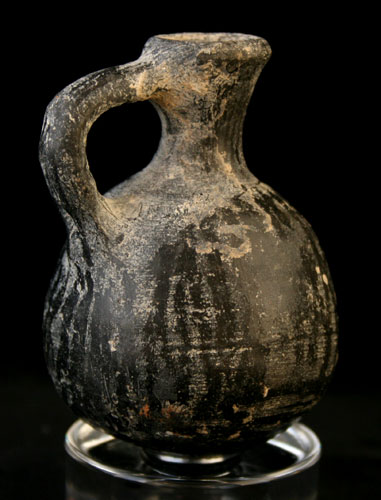 Iron Age Black Terracotta Jug