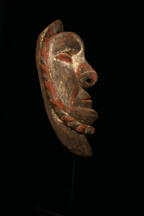 Polychrome Wooden Mask