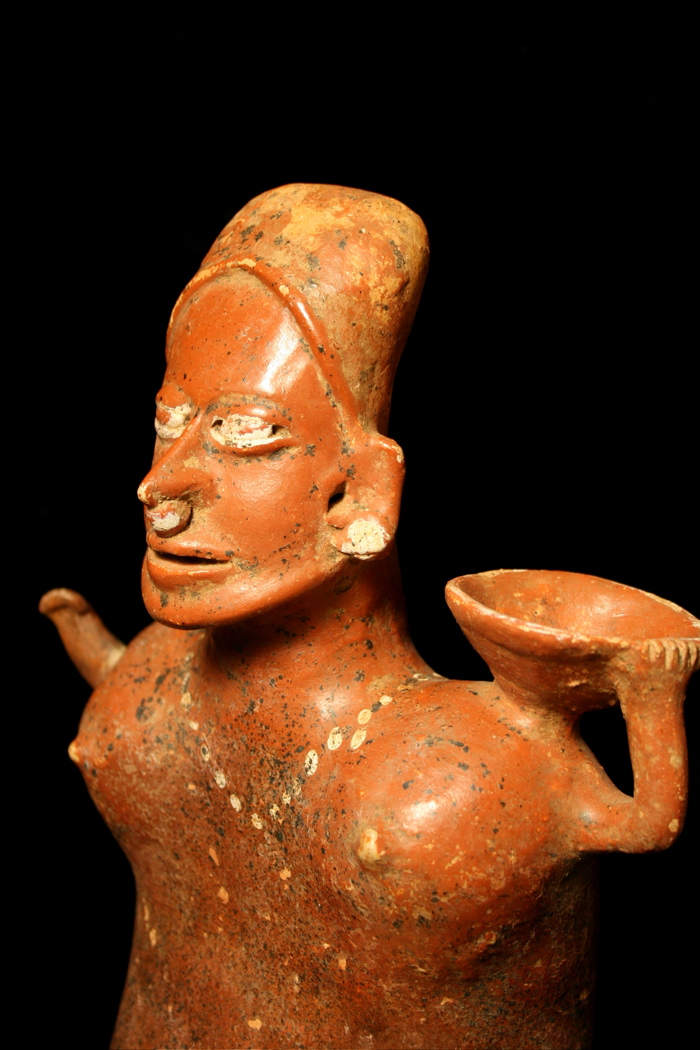 El Arenal Brown Style Jalisco Terracotta Sculpture of a Woman