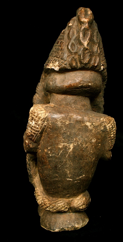 Kissi Stone Nomoli Sculpture of a Seated Figure