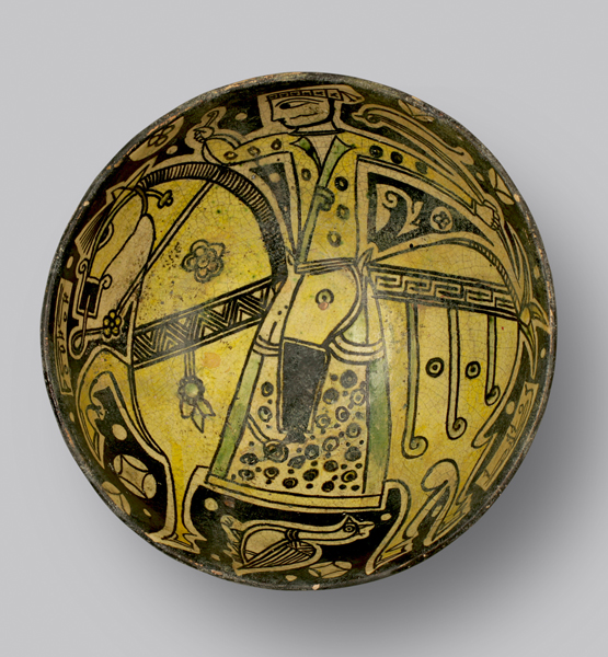 'Buffware' Bowl with Horse and Rider