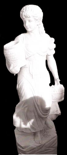Marble Sculpture of a Standing Woman