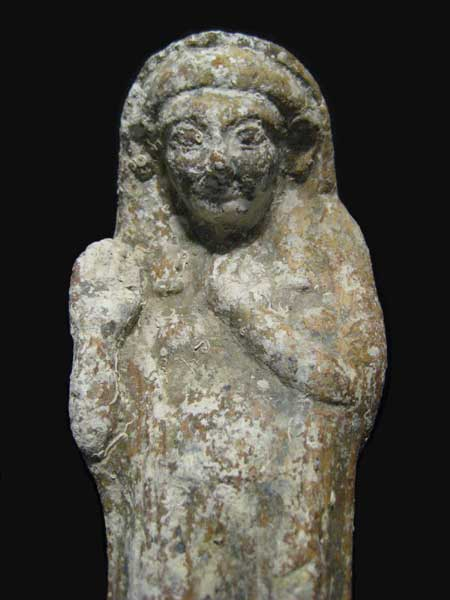 Phoenician Terracotta Votive Statue of Tanit