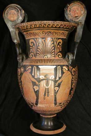 Apulian Red and Figure Volute Krater