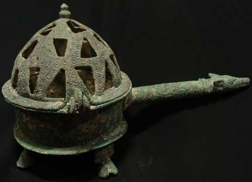 Bronze Pierced Incense Burner