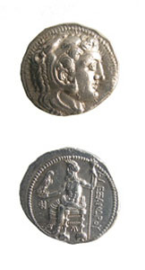 Macedonian Silver Tetradrachm of King Alexander the Great