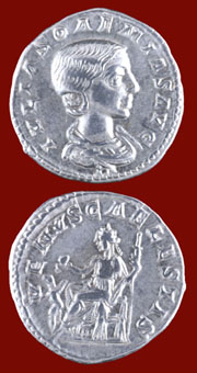 Silver Denarius of Julia Soaemias