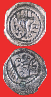 Jewish Bronze Coin Minted Under King Herod Archelaus