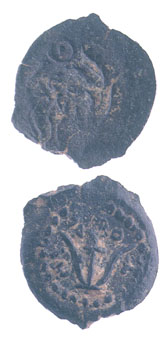 Jewish Bronze Coin of King Herod Archelaus
