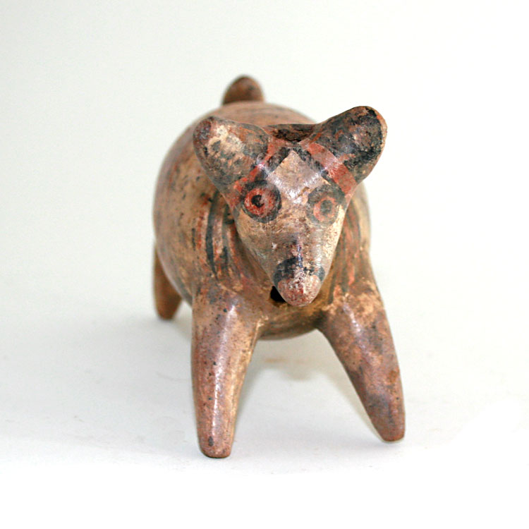 Nayarit Terracotta Dog Effigy Vessel