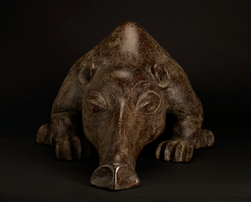 Mangbetu Terracotta Vessel in the Form of an Anteater