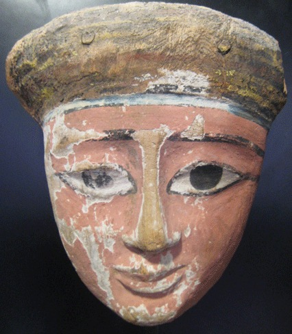 Egyptian polychrome wooden mask