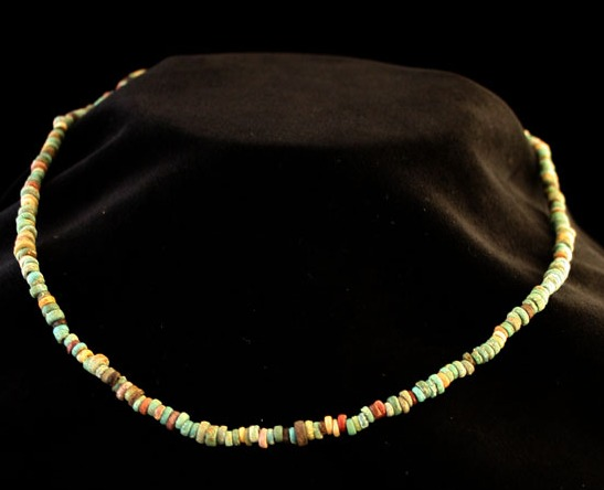 Egyptian Faience Bead Necklace
